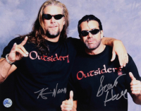 Kevin Nash & Scott Hall Signed WWE 11x14 Photo (Pro Player Hologram)