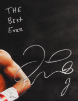 """Floyd Mayweather Signed 22x26 Print On Canvas Inscribed """"The Best Ever"""" (Beckett COA) at PristineAuction.com"""