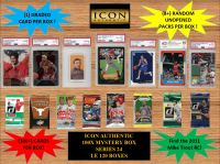 ICON AUTHENTIC - 100X MYSTERY BOX SERIES 24 100+ Cards per Box