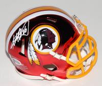 Adrian Peterson Signed Washington Redskins Chrome Speed Mini-Helmet (Beckett COA) at PristineAuction.com
