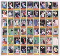 Uncut Sheet of (54) 1981 Donruss Golf Cards With #2 Lee Trevino RC, #NNO Lee Trevino SL,  #5 Ben Crenshaw RC, #13 Jack Nicklaus RC, #NNO Jack Nicklaus SL
