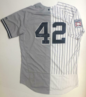 "Mariano Rivera Signed New York Yankees Split Jersey Inscribed ""HOF 2019"" (Steiner COA) at PristineAuction.com"