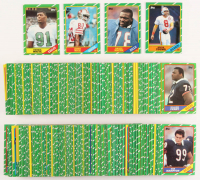 1986 Topps Complete Set of (396) Football Cards with #374 Steve Young RC, #389 Bruce Smith RC, #161 Jerry Rice RC, #275 Reggie White RC