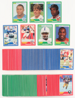 1989 Score Complete Set of (338) Football Cards with #270 Troy Aikman RC, #18 Michael Irvin RC, #211 Thurman Thomas RC, #258 Derrick Thomas RC, #272 Andre Rison RC, #246 Deion Sanders RC, #257 Barry Sanders RC