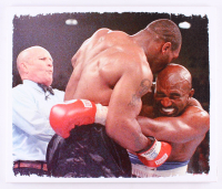 Mike Tyson vs. Evander Holyfield 22x26 Photo on Canvas