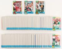 1990 Topps Complete Set of (560) Football Cards with #323 Dan Marino, #13 Joe Montana, #37 John Elway