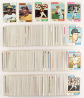 1974 Topps Complete Set of (678) Baseball Cards with #456 Dave Winfield RC, #252 Dave Parker RC, #283 Mike Schmidt, #20 Nolan Ryan, #130 Reggie Jackson