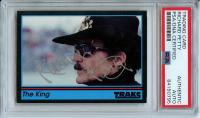 Richard Petty Signed 1991 Traks #200 The King (PSA Encapsulated)