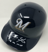 "Christian Yelich Signed Milwaukee Brewers Full-Size Batting Helmet Inscribed ""18 NL MVP"" (Steiner Hologram) at PristineAuction.com"