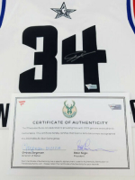 Giannis Antetokounmpo Signed Milwaukee Bucks 2019 All-Star Jersey (Fanatics Hologram) at PristineAuction.com