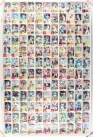 Uncut Sheet of (132) 1984 Nestle Baseball Cards with #8 Don Mattingly, #200 Andre Dawson, #550 Jim Rice, #182 Darryl Strawberry, #154 Dave Henderson, #750 Jim Palmer, #780 Steve Carlton, #700 Mike Schmidt, #460 Dave Winfield