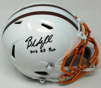"Baker Mayfield Signed Limited Edition Cleveland Browns Full-Size Authentic On-Field Speed Helmet Inscribed ""2018 #1 Pick"" (Steiner COA) at PristineAuction.com"
