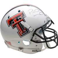 Patrick Mahomes Signed Texas Tech Red Raiders Full-Size Authentic On-Field Helmet (Fanatics Hologram) at PristineAuction.com
