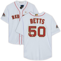 """Mookie Betts Signed Boston Red Sox Jersey Inscribed """"18 WS Champs"""" (Fanatics Hologram & MLB Hologram) at PristineAuction.com"""
