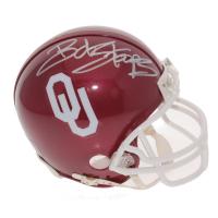 Bob Stoops Signed Oklahoma Sooners Mini Helmet (JSA COA)