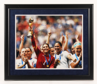 Hope Solo Signed LE Team USA 22x26 Custom Framed Photo Display with Multiple Inscriptions (Steiner COA) at PristineAuction.com