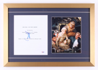 """J.J. Abrams Signed """"Star Wars"""" The Force Awakens"""" 16x23 Custom Framed Script Cover Display (PSA COA)"""