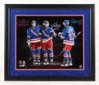 J. T. Miller, Kevin Shattenkirk, & Ryan McDonagh Signed New York Rangers 22x26 Custom Framed Photo Display (Steiner Hologram)