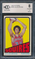 1972-73 Topps #195 Julius Erving RC (BCCG 8)