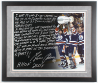 Glenn Anderson Signed Edmonton Oilers 22x26 Custom Framed Photo with Extensive Inscription (Steiner COA) at PristineAuction.com