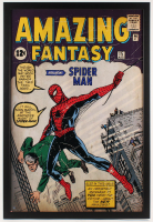 Stan Lee Signed Marvel Comics Retro: Amazing Spider Man 26x38 Custom Framed Poster (Steiner Hologram)
