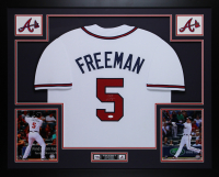 Freddie Freeman Signed 35x43 Custom Framed Jersey (JSA COA) at PristineAuction.com