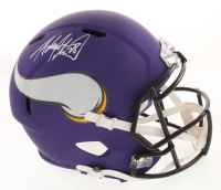 Adrian Peterson Signed Minnesota Vikings Matte Purple Full-Size Speed Helmet (Beckett COA) at PristineAuction.com