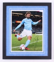 Andrea Pirlo Sigend New York City FC 18.25x21.25 Custom Framed Photo Display (Icons COA) at PristineAuction.com