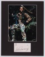 "Arnold Schwarzenegger Signed ""Predator"" 11x14 Custom Matted Cut Display (JSA COA)"