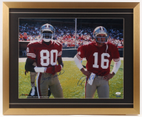 Joe Montana & Jerry Rice Signed San Francisco 49ers 21x25.5 Custom Framed Photo Display (JSA COA & TriStar Hologram)