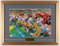 "Joe Montana Signed ""LeRoy Neiman"" 18x23 Custom Framed Print Display (JSA COA)"