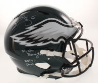 "Donovan McNabb Signed Philadelphia Eagles Full-Size Authentic On-Field Speed Helmet Inscribed ""37,276 Passing Yds"" & ""234 TD Passes"" (JSA COA) at PristineAuction.com"