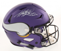 "Adrian Peterson Signed Vikings Matte Purple Full-Size Authentic On-Field Flex Speed Helmet Inscribed ""NFL MVP 12"" (Beckett COA) at PristineAuction.com"