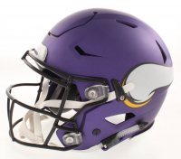 """Adrian Peterson Signed Vikings Matte Purple Full-Size Authentic On-Field Flex Speed Helmet Inscribed """"NFL MVP 12"""" (Beckett COA) at PristineAuction.com"""