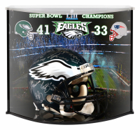 Philadelphia Eagles Full-Size Authentic On-Field Helmet Team-Signed by (20) with Nick Foles, Carson Wentz, Zach Ertz, Fletcher Cox, Alshon Jeffery, Chris Long (Fanatics Hologram)