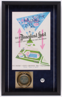 Disneyland Hotel 16.5x26.5x2 Custom Framed Shadowbox Poster Print Display with Ashtray & Employee Pin
