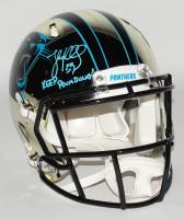 "Luke Kuechly Signed Carolina Panthers Full-Size Authentic On-Field Chrome Speed Helmet Inscribed ""Keep Pounding!"" (JSA COA) at PristineAuction.com"