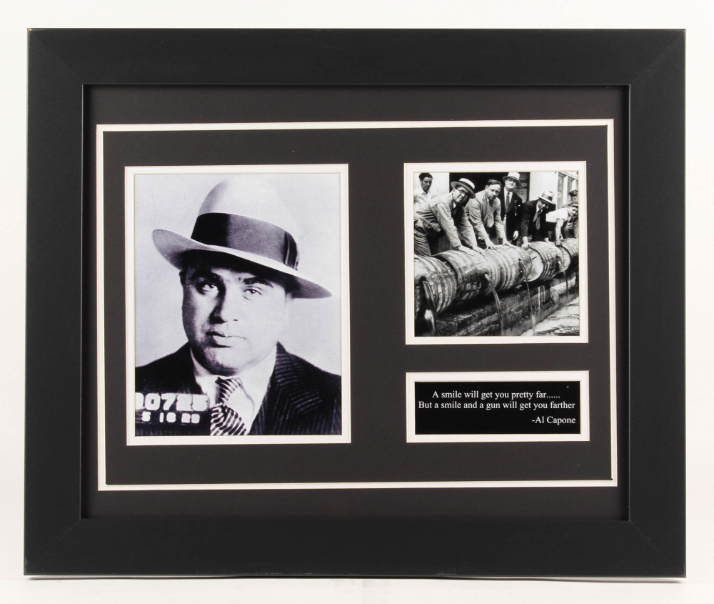 Al Capone 19.5x23.5 Custom Framed Photo Display at PristineAuction.com