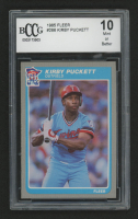 1985 Fleer #286 Kirby Puckett RC (BCCG 10) at PristineAuction.com