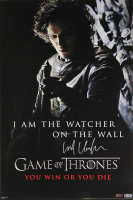 "Kit Harington Signed ""Game of Thrones"" 24x36 Watcher on the Wall Poster (Radtke COA) at PristineAuction.com"