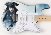 "Johnny Depp Signed ""Pirates of the Caribbean"" Fender 39"" Electric Guitar (JSA Hologram) at PristineAuction.com"