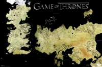 "John Bradley Signed ""Game of Thrones"" 24x36 Westeros Map Photo Inscribed ""Sam"" (Radtke COA) at PristineAuction.com"