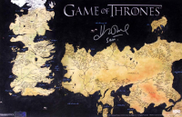 "John Bradley Signed ""Game of Thrones"" 11x17 Westeros Map Photo Inscribed ""Sam"" (Radtke COA) at PristineAuction.com"