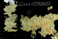"Isaac Hempstead Wright Signed ""Game of Thrones"" 24x36 Westeros Map Photo Inscribed ""Bran"" (Radtke COA) at PristineAuction.com"