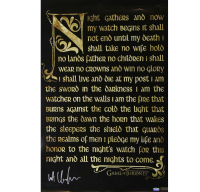 "Kit Harington Signed ""Game of Thrones"" 24x36 Nights Watch Oath Poster (Radtke COA) at PristineAuction.com"