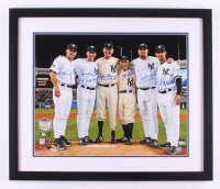 New York Yankees Perfect Game Batteries 22x26 Custom Framed Photo Signed by (6) with Joe Girardi, David Cone, Don Larsen, Yogi Berra, David Wells with (3) PG Inscriptions (Steiner COA & MLB Hologram)