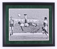 Pele Signed 22.5x26.5 Custom Framed Photo Display (Steiner COA) at PristineAuction.com