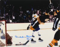 "Bobby Orr Signed Bruins ""The Flying Goal"" 11x14 Photo (Orr COA) at PristineAuction.com"