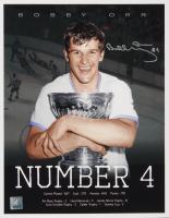 "Bobby Orr Signed Bruins ""Number 4"" 11x14 Photo (Orr COA)"