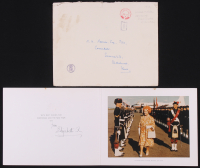 """Queen Elizabeth """"The Queen Mother"""" Signed """"1974 Christmas Holiday Card"""" (Beckett LOA)"""